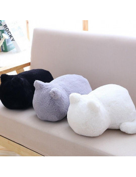 1pc Lovely Cat Home Decoration Cartoon Cushion Plush Stuffed Throw Pillow Toy Doll Gifts 33*24*18cm