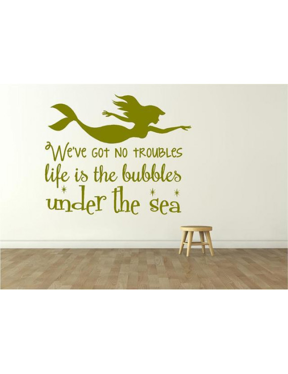 "Little Mermaid Movie Decor - Vinyl Wall Decal - Kid's Bedroom Decoration | 20""x20"""