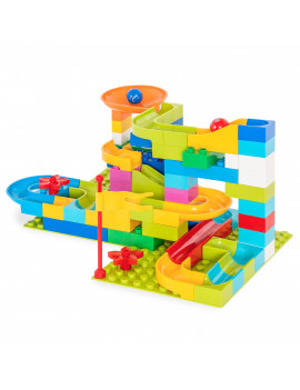 Best Choice Products 97-Piece Kids Create Your Own Marble Maze Run Racetrack Puzzle Construction Game Set w/ 4 Balls