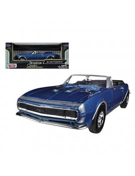 1 by 24 1967 Chevrolet Camaro SS Convertible Diecast Car Model, Blue