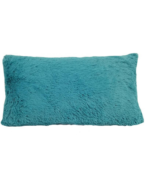 Heritage Club Teal Long Faux Fur Throw Body Pillow