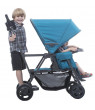 Joovy Caboose Ultralight Sit and Stand Double Stroller, Turquoise