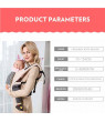 Baby Carrier Convertible Ergonomic Baby Carrier Baby Kangaroo Bag Breathable Infant backpack Pouch Wrap Baby Sling for Newborns, Grey