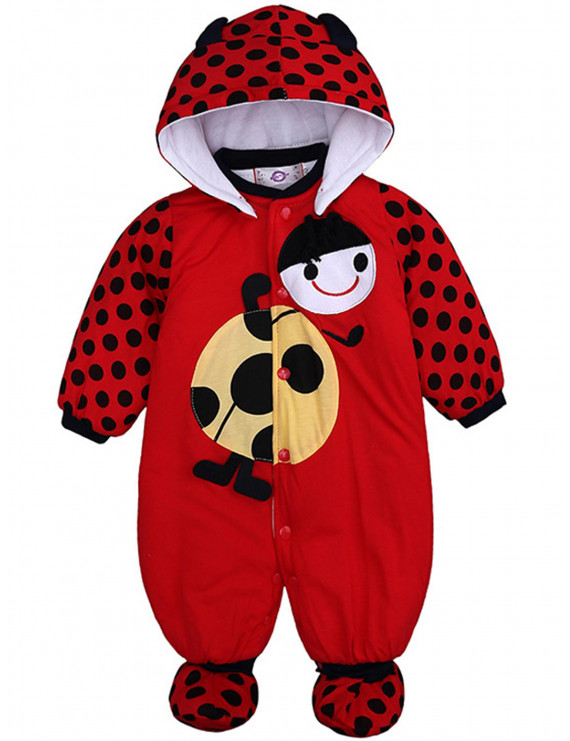 Infant Baby's Cute Kids Girls Boys Hooded Newborn Buttons Toddler Jumpsuits