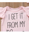 Newborn Baby Girls Romper Bodysuit Jumpsuit Headband Outfits Clothes