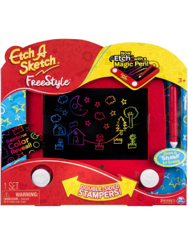 - Freestyle Drawing Pad with Stylus and Stampers, Etch A Sketch Freestyle is a modern twist on the classic toy. Kids use the stylus to doodle thick or thin.., By Etch A Sketch