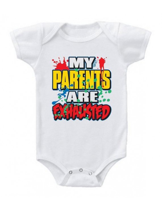 My Parents Are Exhausted Baby Romper