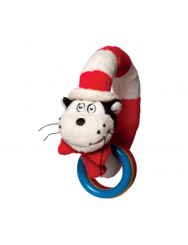 Manhattan Toy Dr. Seuss Cat in The Hat Take and Shake Ring Rattle and Teether Toy
