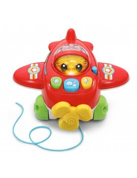 VTech Pull and Pop Airplane With Learning Phrases and Popping Beads