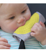 On the Goldbug Teether Strap Cover, Silcone Teether for Soothing Baby, Yellow
