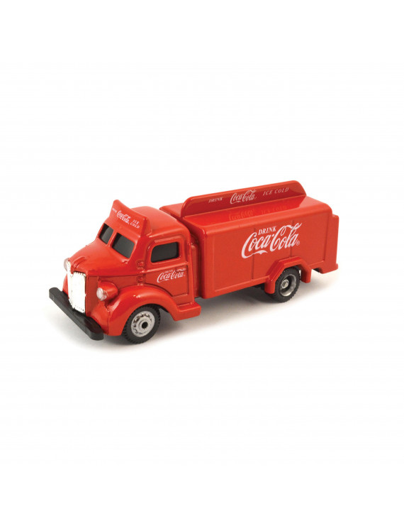 Coca-Cola 1/87 Scale 1947 Coca-Cola Bottle Diecast Truck- Red (Collectible Toy Vehicle)