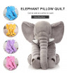ODOMY Baby boy&girl Bedtime Plush Elephant Animated Stuffed Animal Toys-40CM-YELLOW