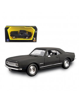 1 by 43 1967 Chevrolet Camaro Z28 Matt Diecast Model Car, Black