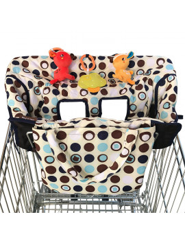2-in-1 Shopping Cart Cover | High Chair Cover for Baby | Medium
