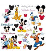 RoomMates Peel and Stick Decor Wall Decals Mickey and Friends 30 Pieces