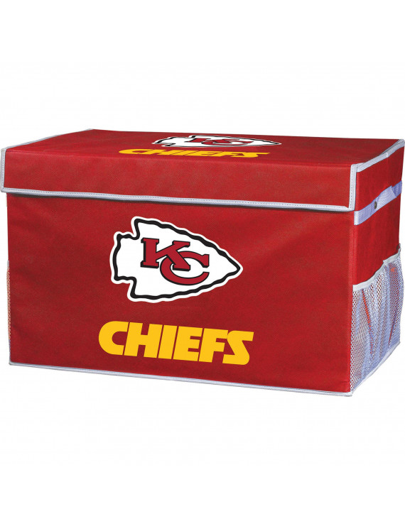 Franklin Sports NFL Kansas City Chiefs Collapsible Storage Footlocker Bins - Small