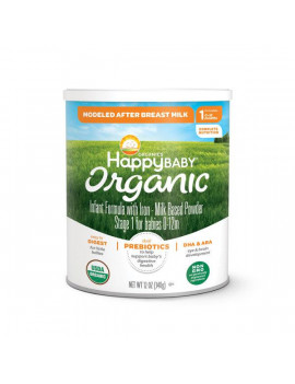 Happy Baby Organic Stage 1 Infant Formula Container, 12 oz