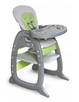 Badger Basket Envee II High Chair Playtable Conversion, Green