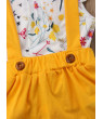 3PCS Toddler Baby Kids Girls Summer Floral Tops Skirt Outfits Set Clothes 0-5T