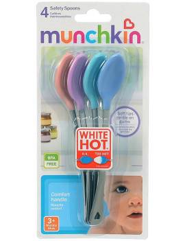 4 Pack - Munchkin White Hot Safety Spoons, Assorted 4 ea