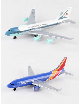 "Air Force One, Southwest Airlines Diecast Airplane Package - Two 5.5"" Diecast Model Planes"