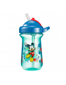 Disney Mickey Mouse Flip Top Cup with Straw & Lid, 9 Oz