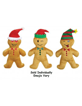 1pc Gingerbread Man Cookie Dog Toy Holiday Soft Clove Scented Assorted Emojis 7""