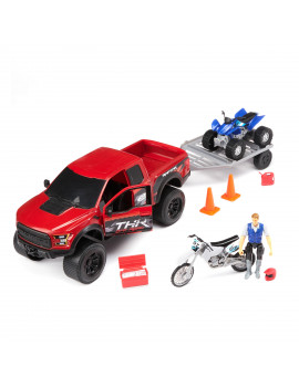 Adventure Force Raptor Truck with Quad & Motorbike Set, 9 Piece