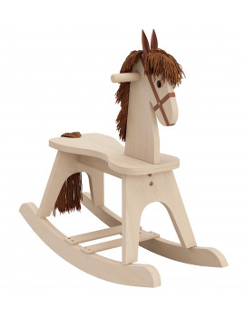 Storkcraft Wooden Rocking Horse Driftwood Kids Rocking Horse Chair Ride Toy for Toddlers and Small Children for Nursery & Playroom