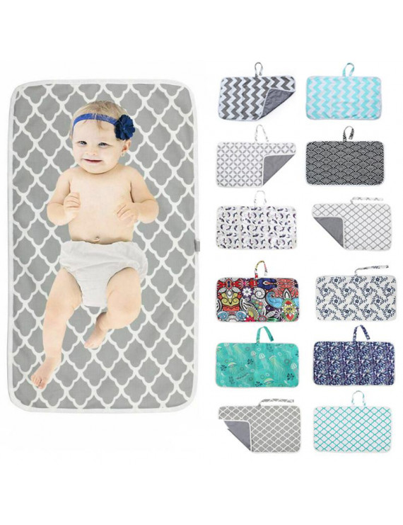 Portable Diaper Changing Pad, Baby Waterproof Pad Changing Mat Travel Mat, for Home,Travel and Outside