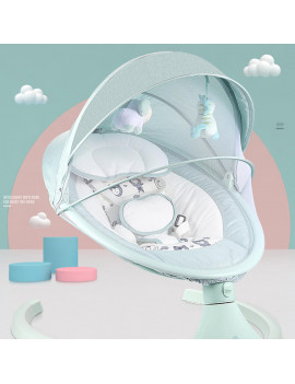 Baby Swing, Baby Rocker, Electric Auto Swing Cradle with 5 Gears Time Set Music Swing Shaker Recliner