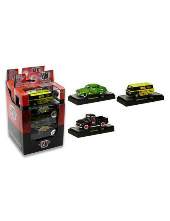 Auto Thentics 3 Cars Set Release 1 WITH CASES Limited Edition to 1,600pcs 1/64 Diecast Model Cars by M2 Machines