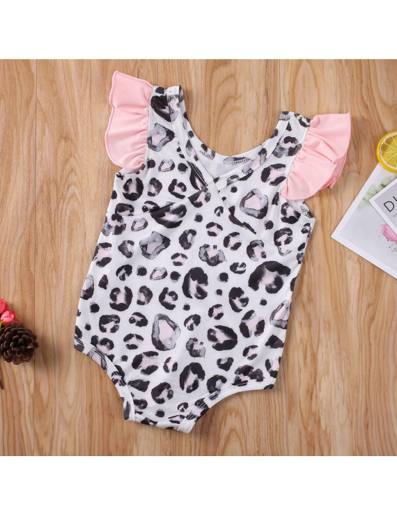 Summer Newborn Infant Baby Girls Leopard Swimsuit Swimwear Bikini Swimming Suit