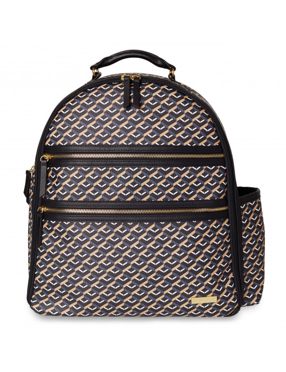 Skip Hop Deco Saffiano Diaper Backpack - Black