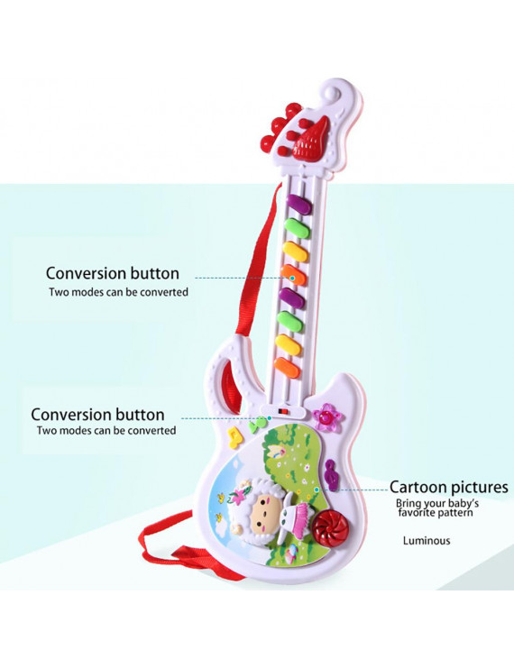 Electric Guitar Toy Musical Play For Kid Boy Girl Toddler Learning Electron Toy