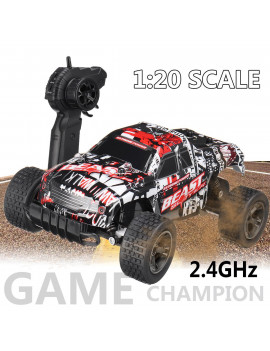 2.4GHz car models 1:20 Remote Control Car High Speed RC Electric Monster Truck OffRoad Vehicle For Children Kids Boys Christmas Gift (with Car Battery/Charger/Screwdriver)