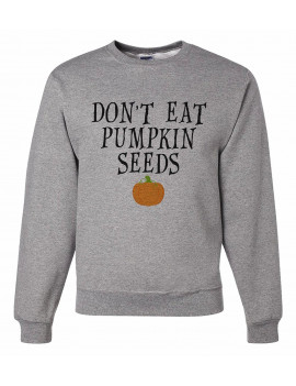 7 ate 9 Apparel Unisex Halloween Pregnancy Announcement Sweatshirt - Large