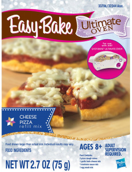 Easy-Bake Ultimate Oven Cheese Pizza Refill Pack, for Ages 8 and up