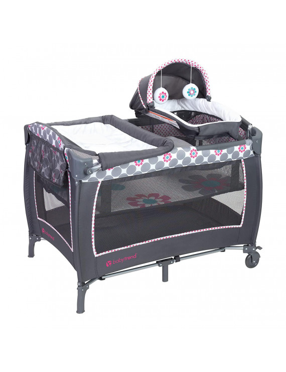 Baby Trend Lil Snooze Deluxe 2 Nursery Center with Changing Table, Daisy Dots