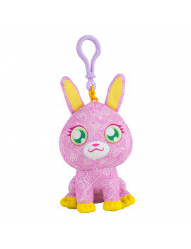 The Original Doodle Bear Clip-On Plush Toy with 1 Mini Washable Marker - Pink Bunny