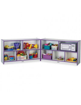 "0326JCWW004 Rainbow Accents Fold-n-Lock Storage Shelf - 24.5"" Height x 96"" Width x 15"" Depth - Hard Rubber - Purple"