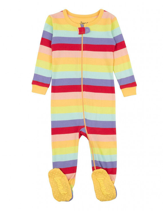 Leveret Kids Pajamas Baby Boys Girls Footed Pajamas Sleeper 100% Cotton (Colorful, Size 18-24 Months)