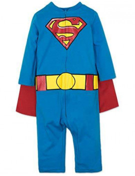 DC Comics Superman Toddler Boys' Fancy Dress Costume Coveralls with Cape 3 Years