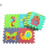 Bluelans 10Pcs/Set Baby Kids Crawling EVA Floor Mat Animal Fruit Numbers Puzzle Pad Toy