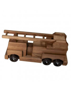 Lapps Toys & Furniture 195 FTH Wooden Fire Truck Toy, Harvest