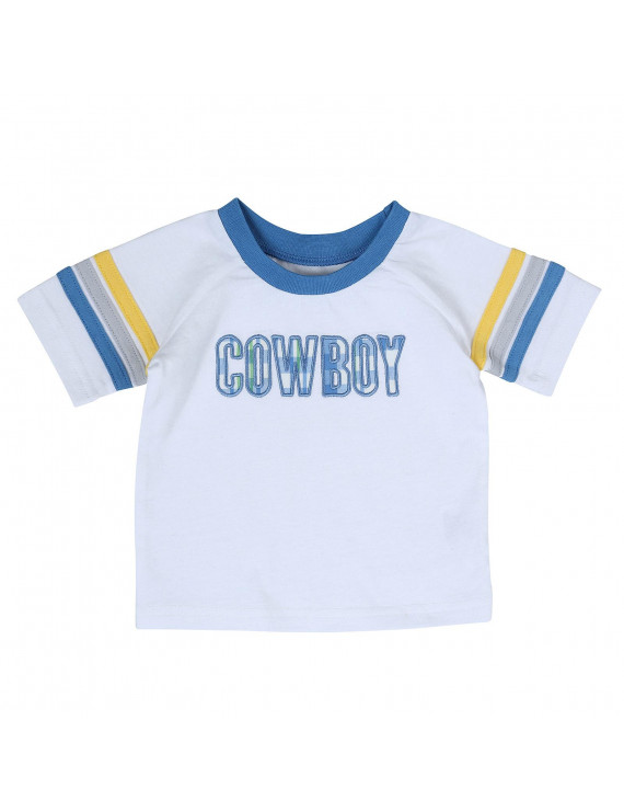 All Around Baby by Wrangler Infant Boys White Cowboy Shirt Size 3-6 Months