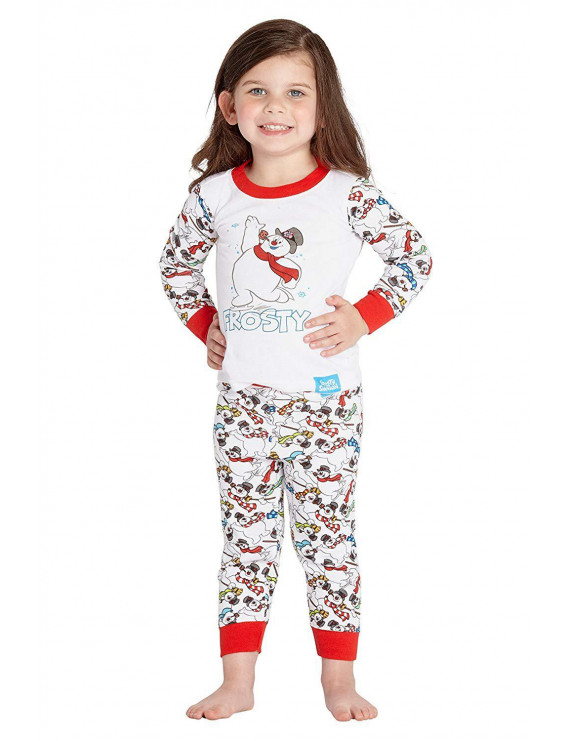 Frosty the Snowman 'Frosty Bunch' Holiday Cotton Pajama Set, White, 12 MO