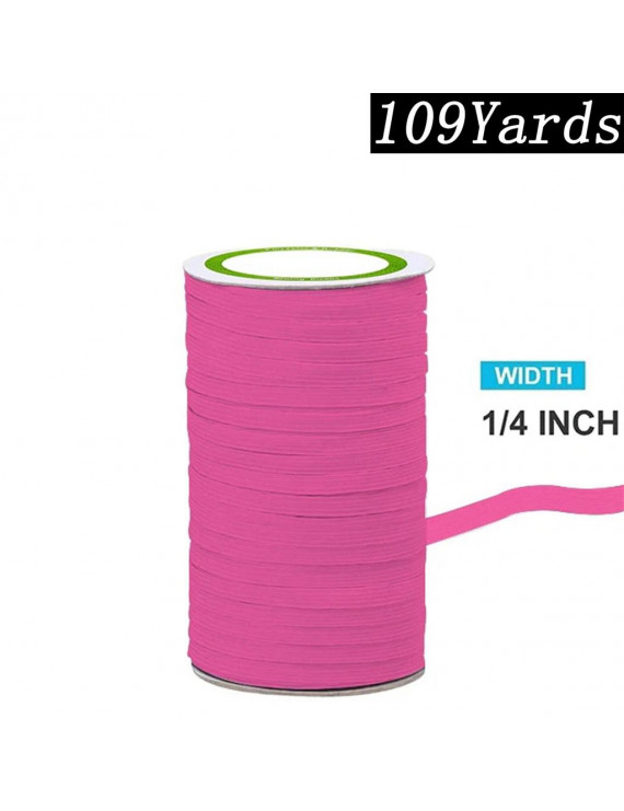 Colorful Elastic Cord/Elastic for Face Bib cloth Band Crafts 109 Yards/6mm Wide