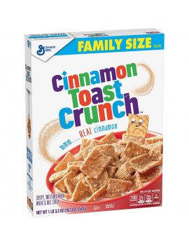 General Mills, Cinnamon Toast Crunch Breakfast Cereal, 2 Boxes - 38.6 Oz