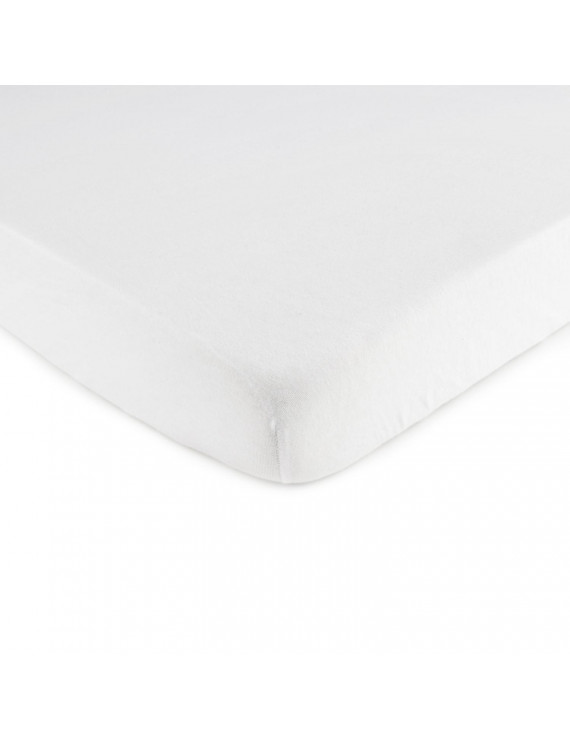 SheetWorld Fitted 100% Cotton Jersey Square Play Yard Sheet Fits Joovy 38 x 38, Solid White